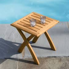 folding outdoor side table lovable outdoor folding side table teak outdoor tables harborside