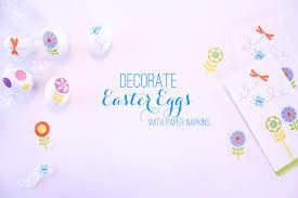 easter napkins no mess easter egg hack using paper napkins babble