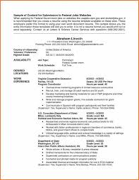 federal job resume template federal jobs resume examples template