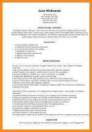 Dialysis Technician Resume Sample Patient Care Technician Resume Memo Example