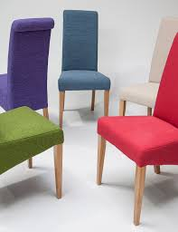Oak Dining Table And Fabric Chairs Extraordinary Coloured Dining Room Chairs Contemporary Best