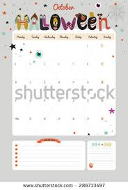 cute calendar template 2016 beautiful diary stock vector 286713497