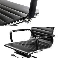 eames ribbed medium back office chair adj u0026 360 replica