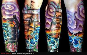 new school water tattoo shark and octopus in water tattoos on sleeve photos pictures and