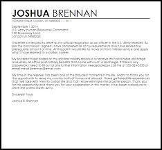 military resignation letter resignation letters livecareer
