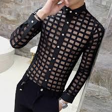 mens lace shirt 2017 new brand spring summer white shirt men