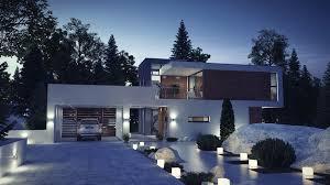 vray night scene rendering modern house ar 3d model max obj loversiq
