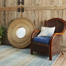 traditional family room ideas with oval brown rattan pier one