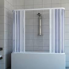 chiusura vasca da bagno box a 3 lati sopravasca 70x170 in pvc mod nicla con apertura
