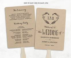 Sample Wedding Programs Templates Printable Wedding Program Template Wedding Fan Programs Diy