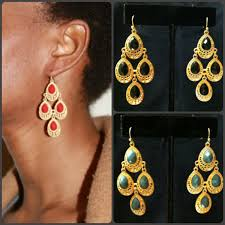 Chandelier Gold Earrings Exotic Chandelier Earrings Gold And Black Red Or Grey Deals