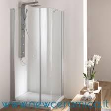 ferbox cabine doccia box doccia angolare porta a battente e lato fisso curvo modello soho