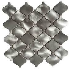 CHENX  In X  In Aluminum Metal Mosaic Backsplash Tiles - Home depot backsplash tile