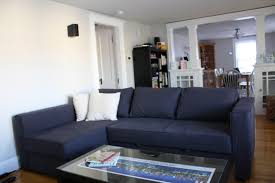 Small Leather Sofas Furniture Awesome Living Room With Blue Leather Sofa And White