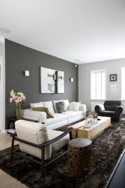 Living Room With Dark Brown Sofa by Peinture Salon Grise Idaes Pour Une 2017 And Charcoal Wall In