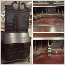 Secretary Desk Navy And Copper Secretary Desk Makeover Lily Field Co