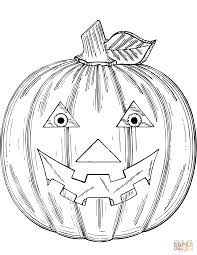 beautiful pumpkin face jack lantern coloring page with jack o