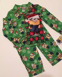 despicable minions christmas flannel pjs pajamas boys sizes 4 6
