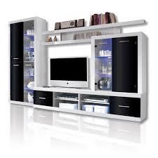 Wohnzimmerschrank Torero Roller Wohnwand Can Can 4 Lux Weiß Schwarz Glasfronten Ebay