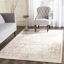 safavieh adirondack vintage distressed ivory rose rug 8 u0027 x 10