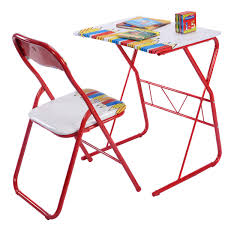 Tinkerbell Folding Chair by Attractive Red Folding Desk And Chair Heavy Load Iron Desk And