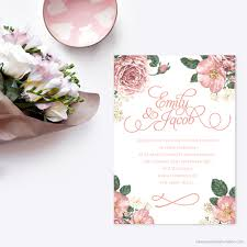 digital wedding invitations vintage floral enviroboard invitation classic wedding invitations