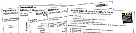 esl worksheets english club