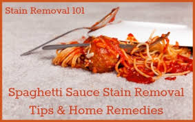 How To Remove Sauce Stains Sauce Upholstery And Spaghetti Sauce Stain Removal Tips Home Remedies Carpet Stain