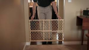 Pressure Mounted Baby Gate Evenflo Position And Lock Tall Pressure Mount W Review Youtube