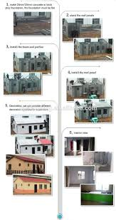 prefabricated homes small mobile modular homes villa steel frame