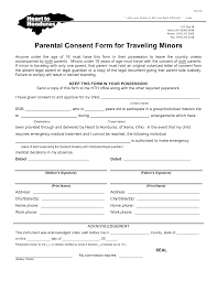 permission for child to travel child international travel consent