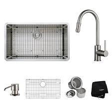 Kitchen Faucets Dallas by Kraus Khu100 32 Kpf1622 Ksd30sn 32 Inch Undermount Single Bowl