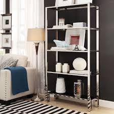 Ebay Bookcase by Inspire Q Alta Vista Black Chrome Metal Single Shelving Bookcase
