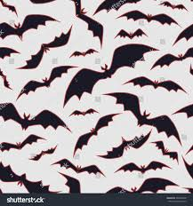 Bat For Halloween Vector Bat Pattern On White Seamless Pattern Stock Vector