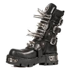 long motorcycle boots new rock m 280 s1 long spike boots goth footwear new rocks uk