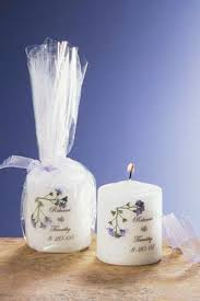 wedding favor candles personalized candle wedding favors forget me not