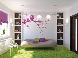 some helpful tips and inspiring ideas for the diy project of cute purple owl wall mural decorating wide teen room decor with sofa bed and white shelves