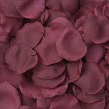 burgundy flowers burgundy silk petals 250 petals wedding