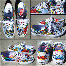 day of the dead halloween decorations day of the dead custom hand painted vans authentic shoes