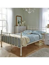 miami ivory traditional hospital inspired sprung slatted bed frame