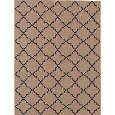 Home Depot Indoor Outdoor Rugs Hton Bay Moroccan Tile Neutral 8 Ft X 10 Ft Indoor Outdoor