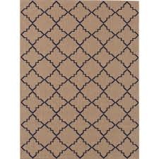 Outdoor Area Rugs Home Depot Hton Bay Moroccan Tile Neutral 8 Ft X 10 Ft Indoor Outdoor