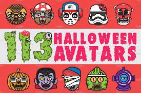 halloween avatars free font icons creative market