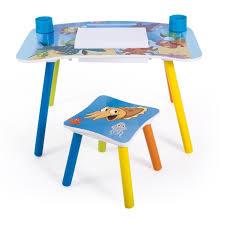bureau dessin bureau table à dessin avec tabouret pour enfant motif mer achat