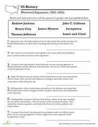 u s history westward expansion westward expansion worksheets