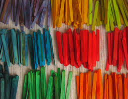 diy stained popsicle sticks with food coloring color crafts
