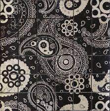 indoor tile floor marble patterned acquaforte paisley