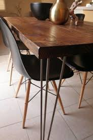 Dining Room Wood Tables Hairpin Leg Table And Bench With Modern Chairs My Dream Set Up