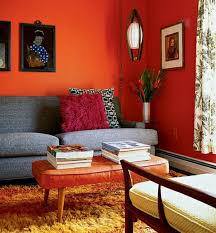 Paint Walls  Paint Ideas For Orange Wall Design Interior Design - Paint designs for living room