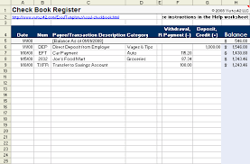 Microsoft Excel Check Register Template 7 Checkbook Register Excel Procedure Template Sle